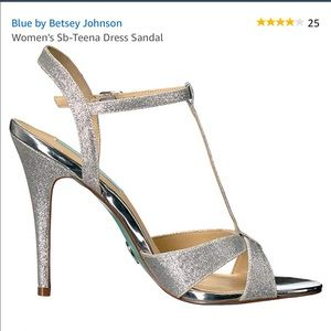 Silver glitter Blue by Betsy Johnson Wedding Shoes